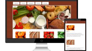 Темплейт за сайт конструктор food