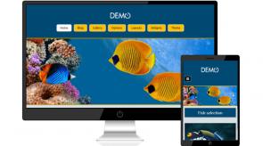 Темплейт за сайт конструктор Aquarium